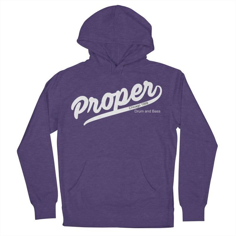 Proper sport wht Men's French Terry Pullover Hoody by Properchicago's Shop