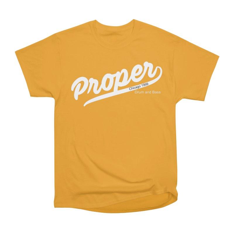Proper sport wht Women's Heavyweight Unisex T-Shirt by Properchicago's Shop