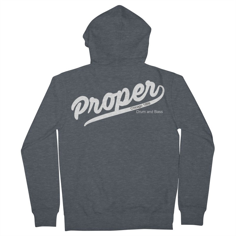 Proper sport wht Women's French Terry Zip-Up Hoody by Properchicago's Shop