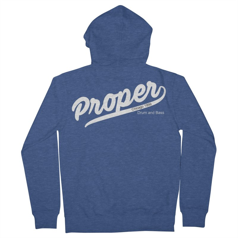 Proper sport wht Men's French Terry Zip-Up Hoody by Properchicago's Shop