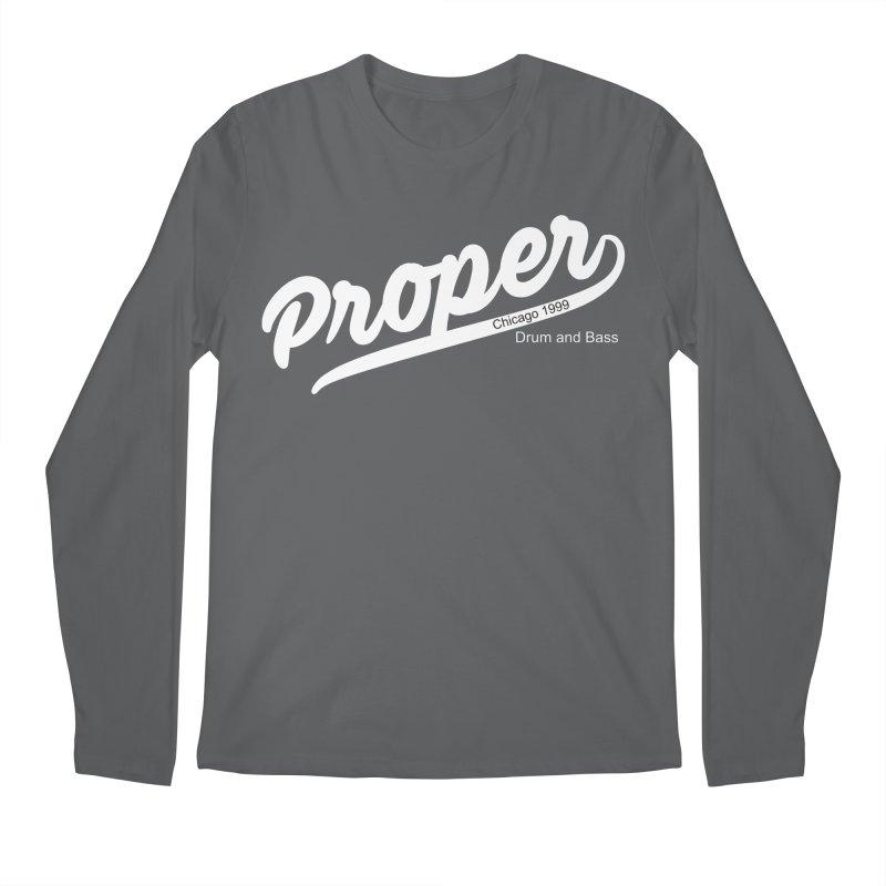 Proper sport wht Men's Longsleeve T-Shirt by Properchicago's Shop