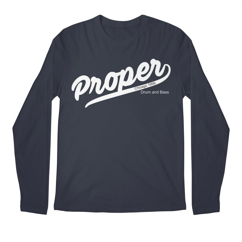 Proper sport wht Men's Regular Longsleeve T-Shirt by Properchicago's Shop