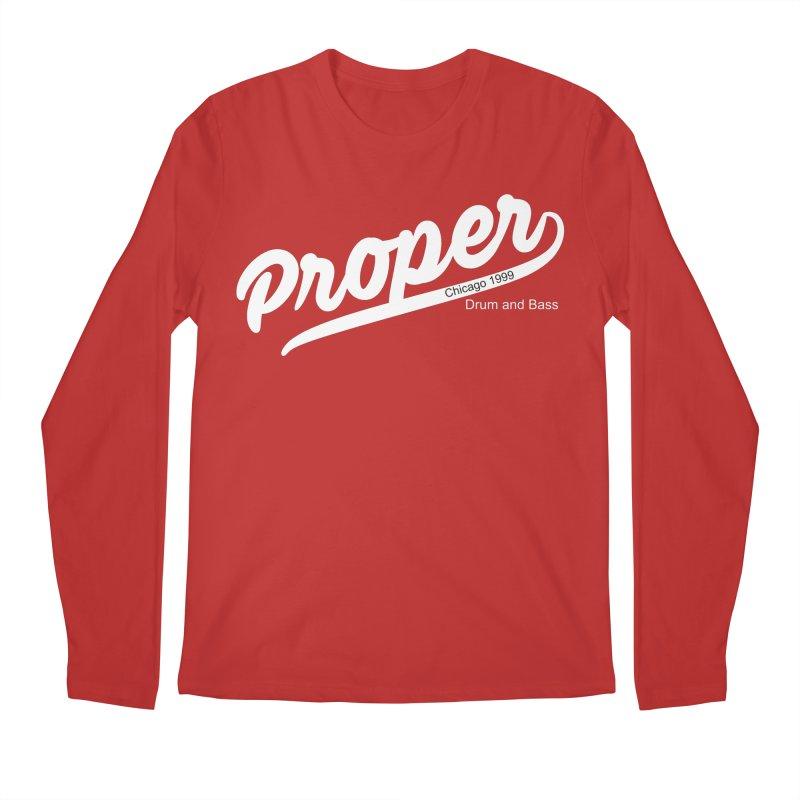 Proper sport wht Men's Regular Longsleeve T-Shirt by Properchicago's Shop