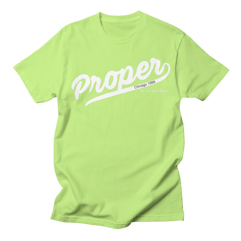 Proper sport wht Women's Regular Unisex T-Shirt by Properchicago's Shop