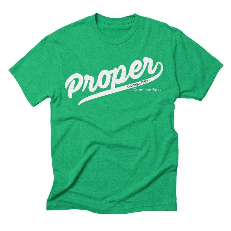 Proper sport wht Men's Triblend T-Shirt by Properchicago's Shop