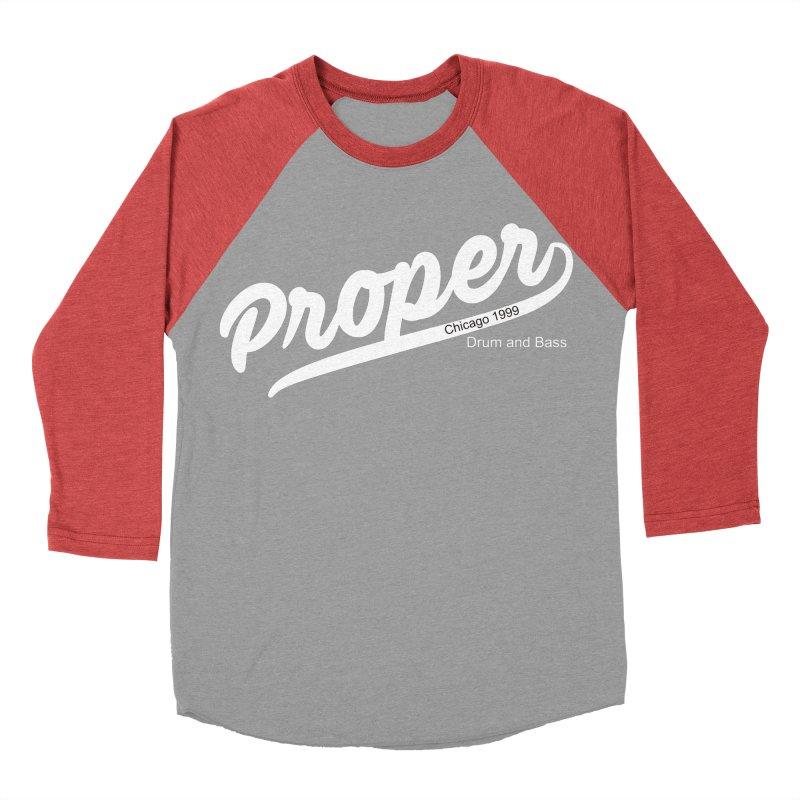 Proper sport wht Women's Baseball Triblend Longsleeve T-Shirt by Properchicago's Shop