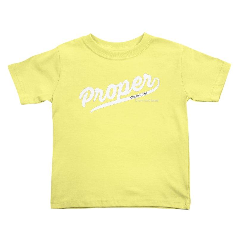 Proper sport wht Kids Toddler T-Shirt by Properchicago's Shop