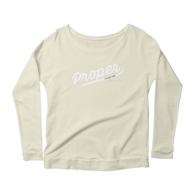 Proper sport wht Women's Scoop Neck Longsleeve T-Shirt by Properchicago's Shop
