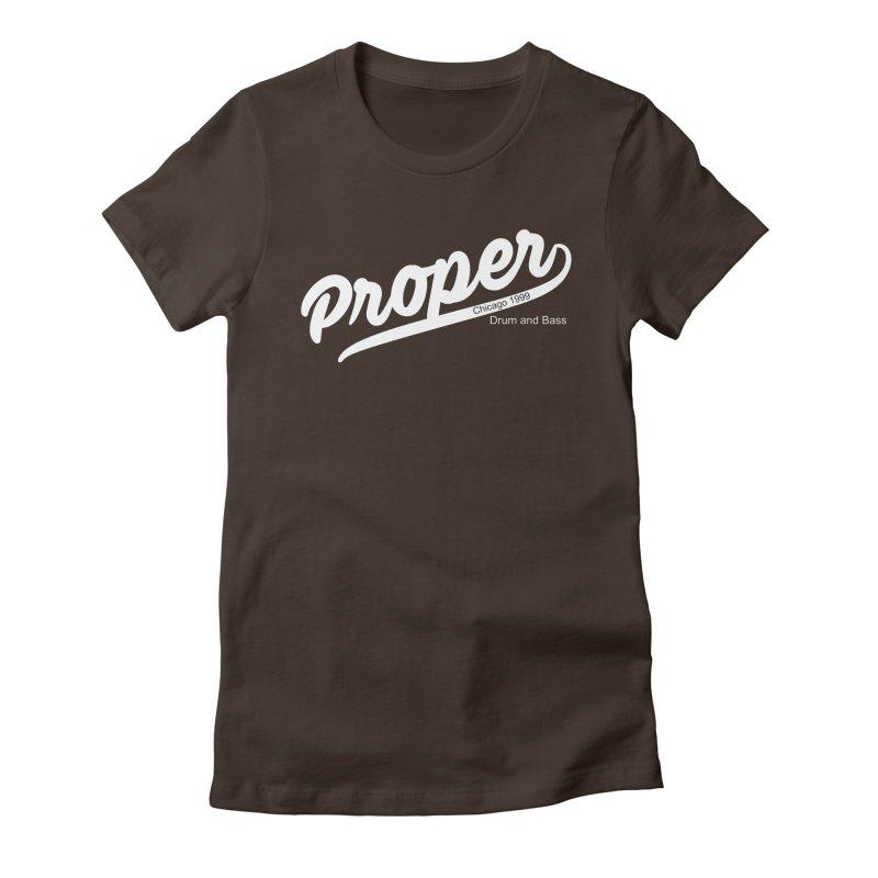 Proper sport wht Women's Fitted T-Shirt by Properchicago's Shop