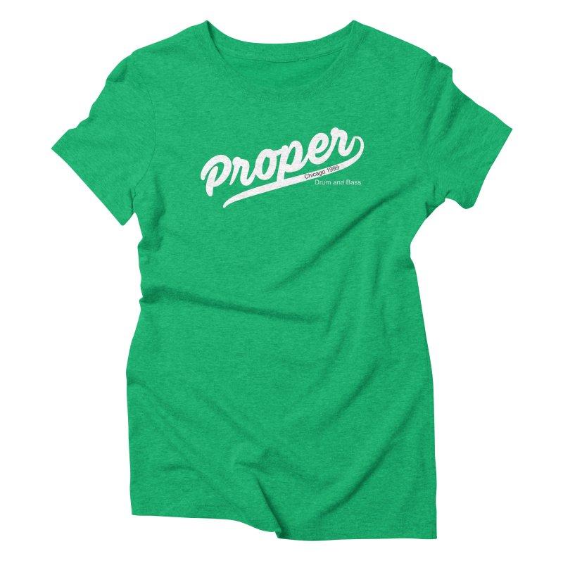 Proper sport wht Women's Triblend T-Shirt by Properchicago's Shop