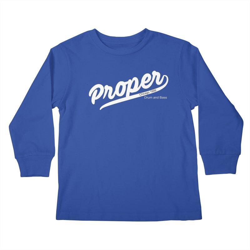 Proper sport wht Kids Longsleeve T-Shirt by Properchicago's Shop