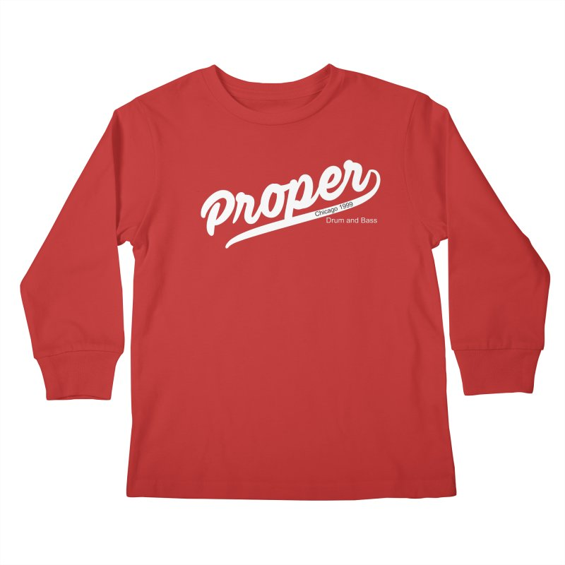 Proper sport wht Kids Longsleeve T-Shirt by Properchicago's Shop