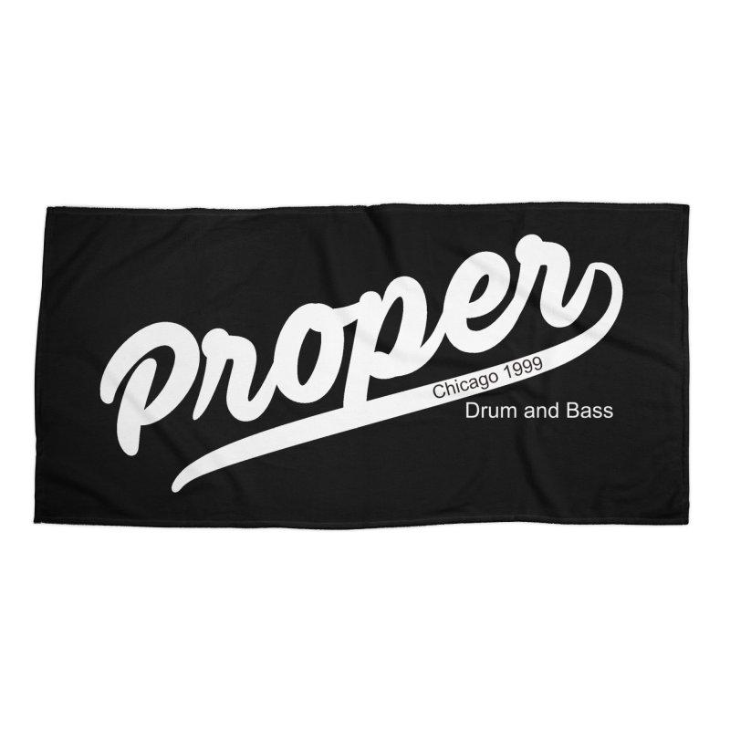 Proper sport wht Accessories Beach Towel by Properchicago's Shop