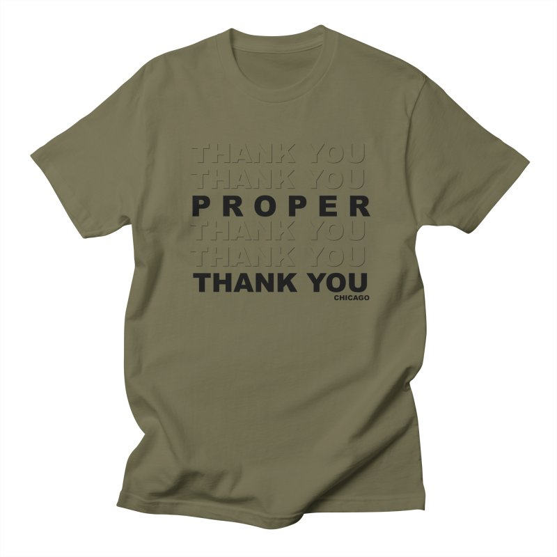 THANK YOU Men's Regular T-Shirt by Properchicago's Shop