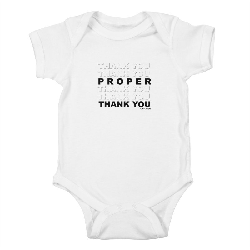 THANK YOU Kids Baby Bodysuit by Properchicago's Shop