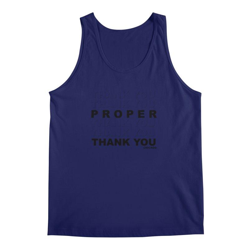 THANK YOU Men's Regular Tank by Properchicago's Shop
