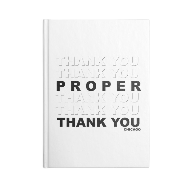 THANK YOU Accessories Blank Journal Notebook by Properchicago's Shop