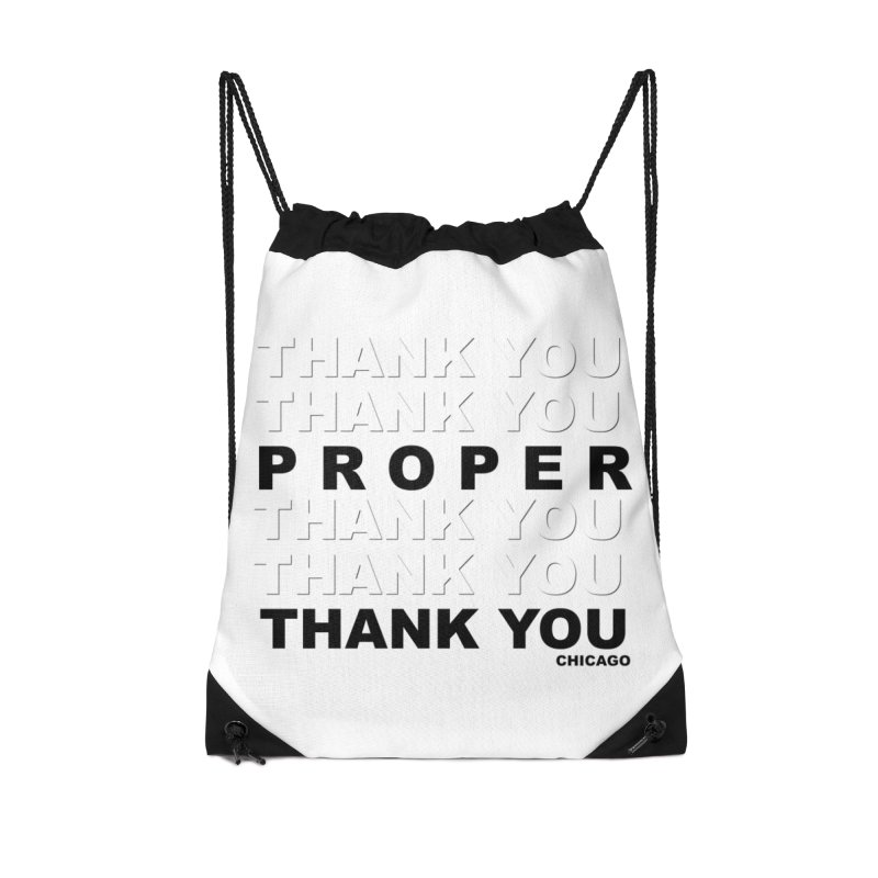 THANK YOU Accessories Drawstring Bag Bag by Properchicago's Shop