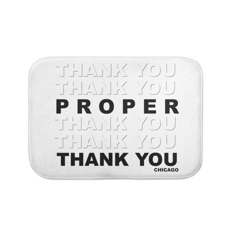 THANK YOU Home Bath Mat by Properchicago's Shop