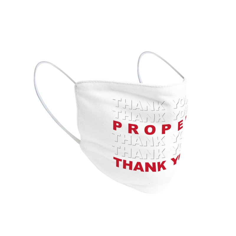 THANK YOU RED Accessories Face Mask by Properchicago's Shop