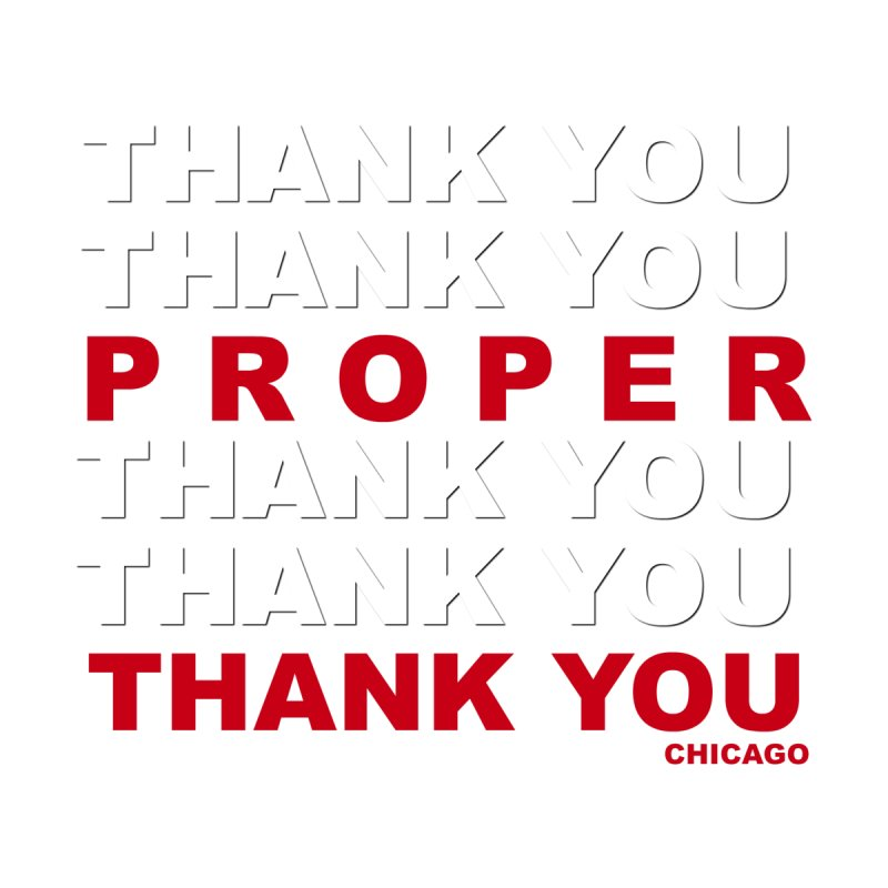 THANK YOU RED Home Framed Fine Art Print by Properchicago's Shop
