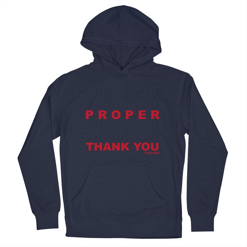 THANK YOU RED Men's French Terry Pullover Hoody by Properchicago's Shop