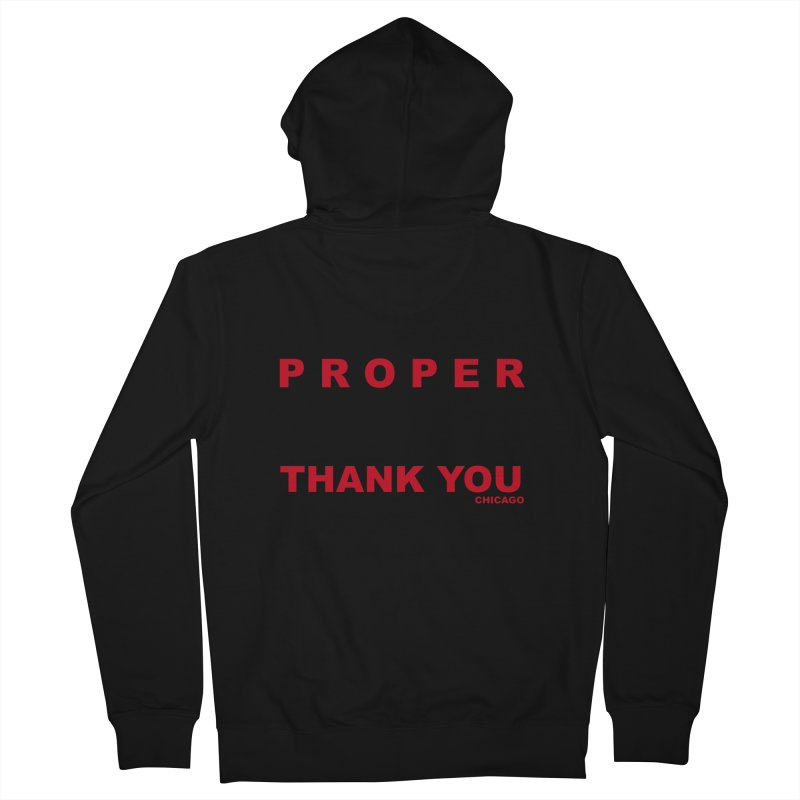THANK YOU RED Women's French Terry Zip-Up Hoody by Properchicago's Shop