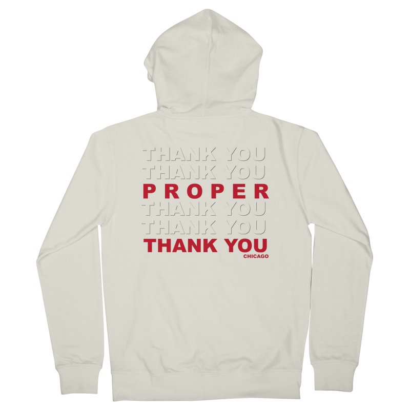 THANK YOU RED Men's French Terry Zip-Up Hoody by Properchicago's Shop