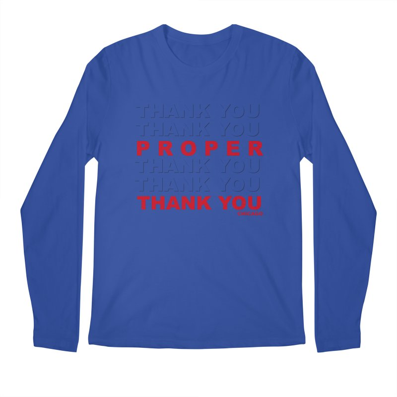THANK YOU RED Men's Regular Longsleeve T-Shirt by Properchicago's Shop