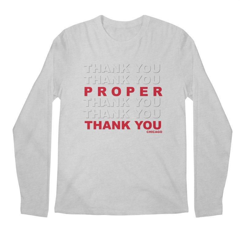 THANK YOU RED Men's Regular Longsleeve T-Shirt by Properchicago's Shop