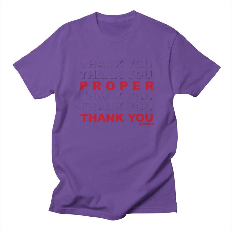 THANK YOU RED Women's Regular Unisex T-Shirt by Properchicago's Shop