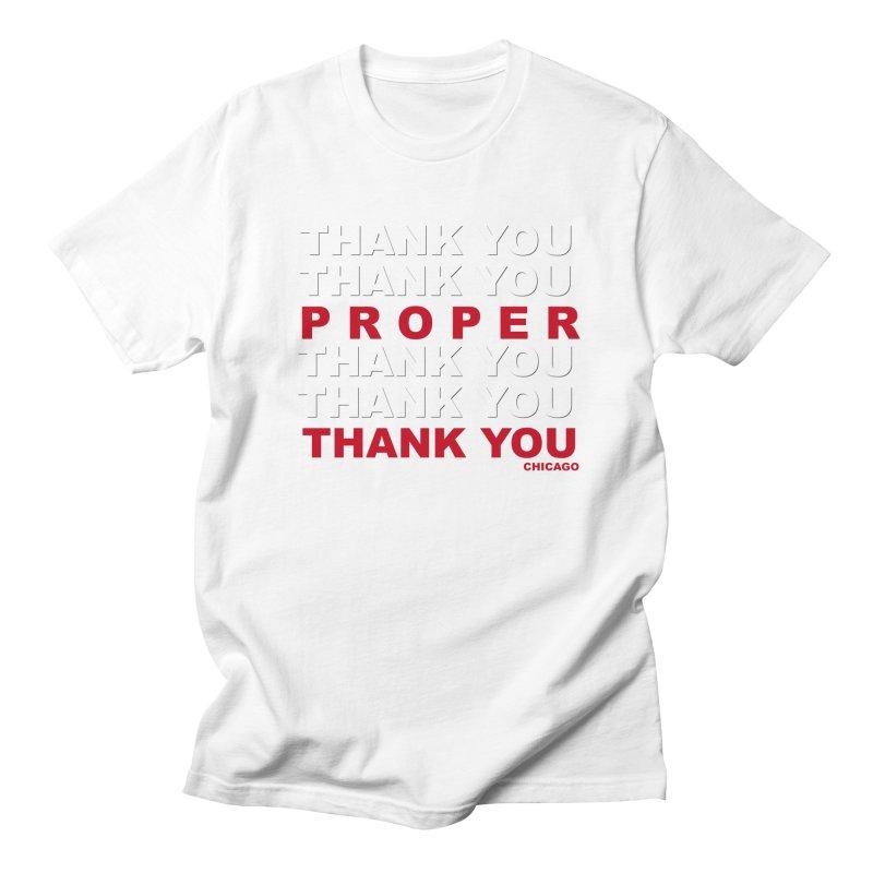 THANK YOU RED Men's Regular T-Shirt by Properchicago's Shop