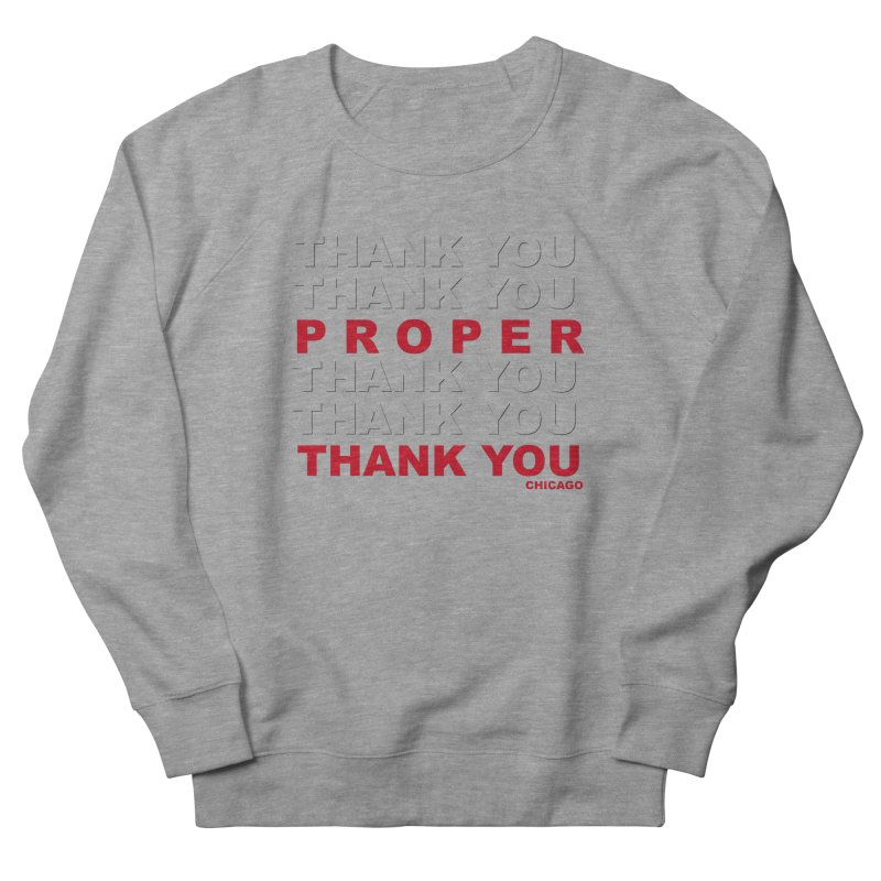 THANK YOU RED Men's French Terry Sweatshirt by Properchicago's Shop