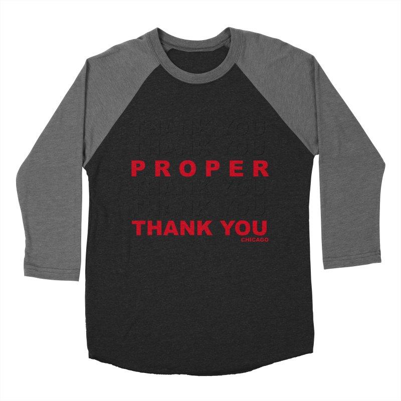 THANK YOU RED Men's Baseball Triblend Longsleeve T-Shirt by Properchicago's Shop