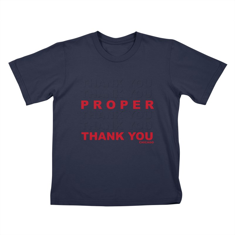 THANK YOU RED Kids T-Shirt by Properchicago's Shop