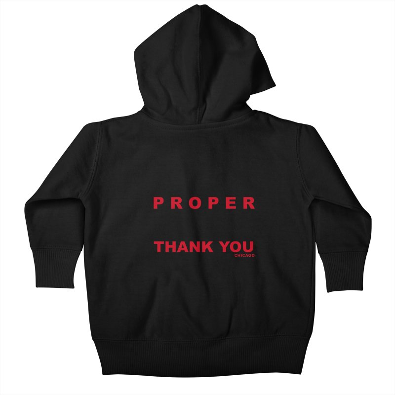 THANK YOU RED Kids Baby Zip-Up Hoody by Properchicago's Shop