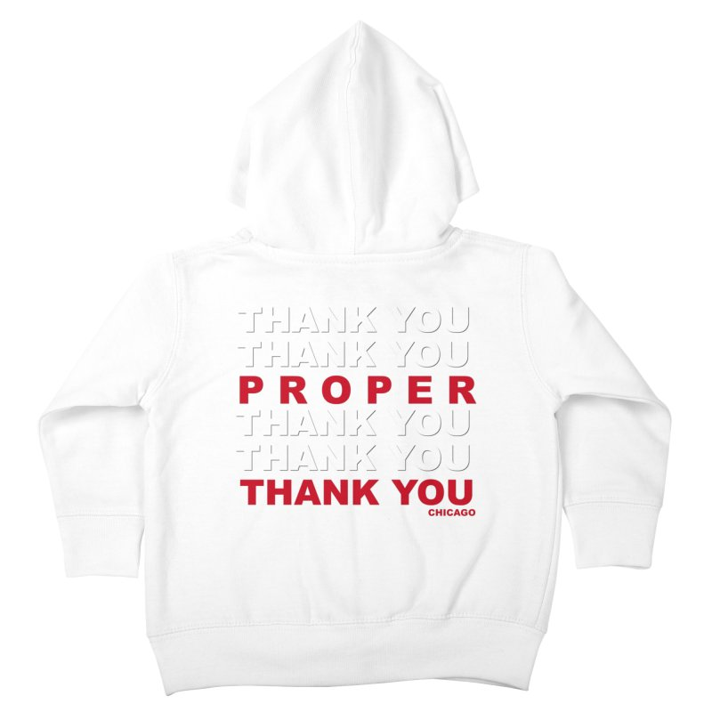 THANK YOU RED Kids Toddler Zip-Up Hoody by Properchicago's Shop