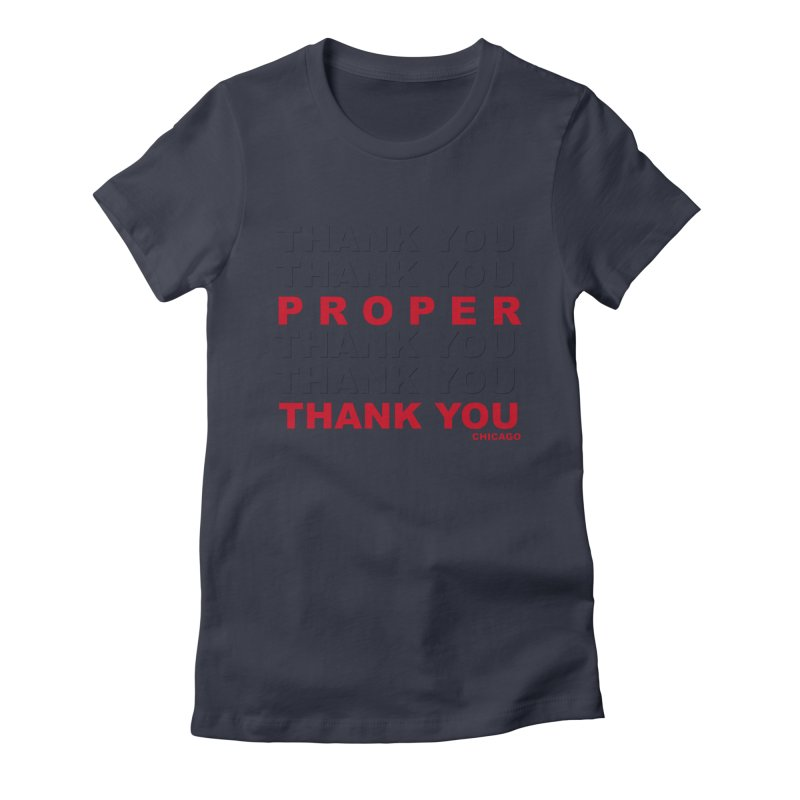 THANK YOU RED Women's Fitted T-Shirt by Properchicago's Shop