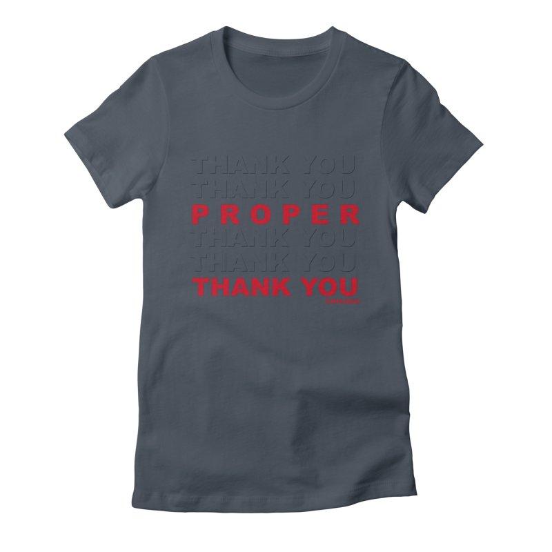 THANK YOU RED Women's T-Shirt by Properchicago's Shop
