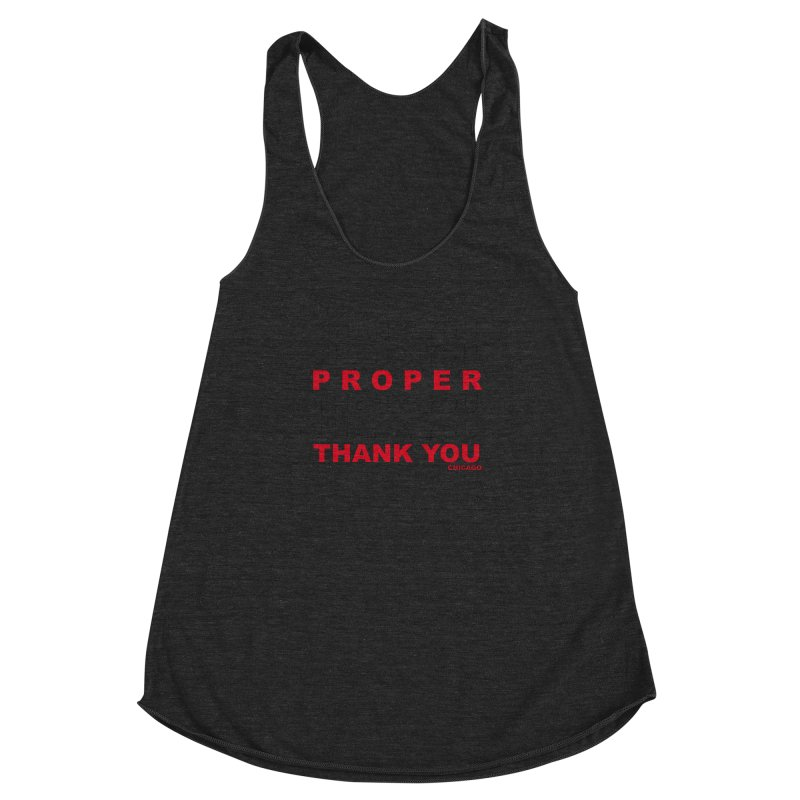 THANK YOU RED Women's Racerback Triblend Tank by Properchicago's Shop