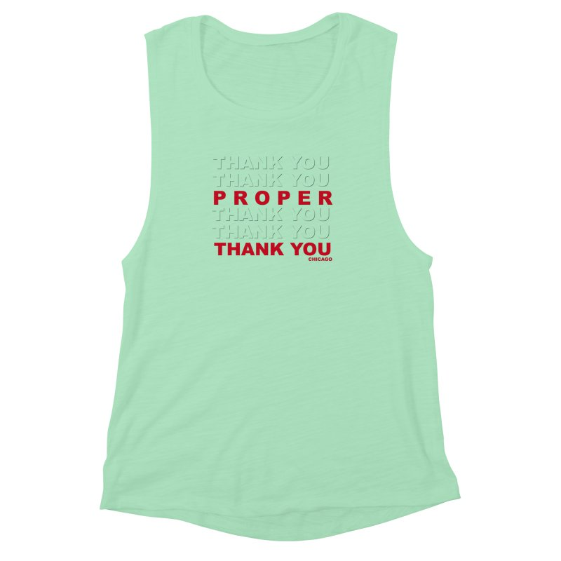 THANK YOU RED Women's Muscle Tank by Properchicago's Shop