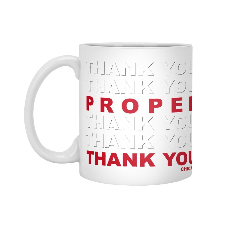 THANK YOU RED Accessories Standard Mug by Properchicago's Shop