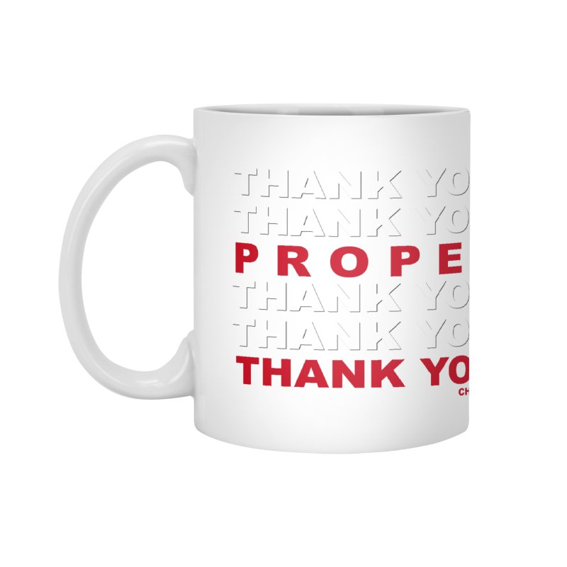 THANK YOU RED Accessories Mug by Properchicago's Shop