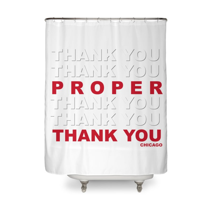 THANK YOU RED Home Shower Curtain by Properchicago's Shop