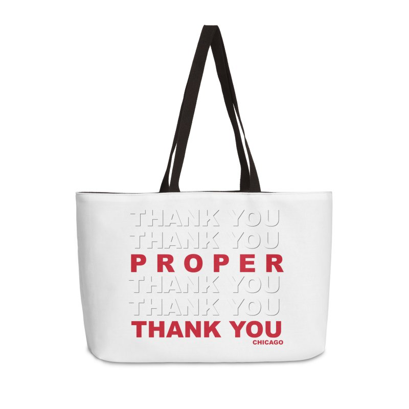 THANK YOU RED Accessories Weekender Bag Bag by Properchicago's Shop