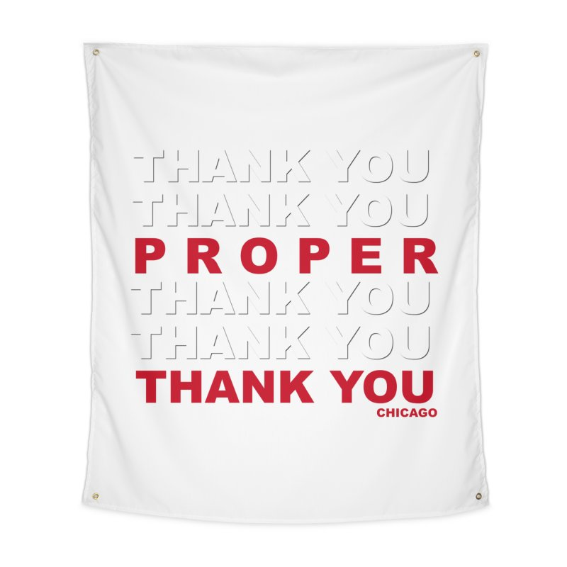 THANK YOU RED Home Tapestry by Properchicago's Shop