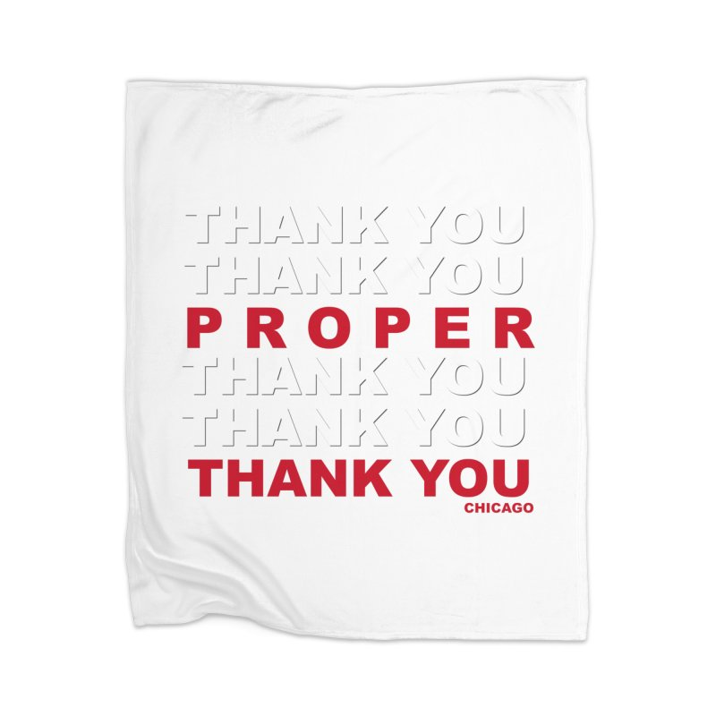 THANK YOU RED Home Blanket by Properchicago's Shop