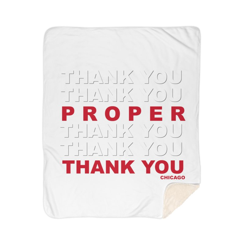 THANK YOU RED Home Sherpa Blanket Blanket by Properchicago's Shop