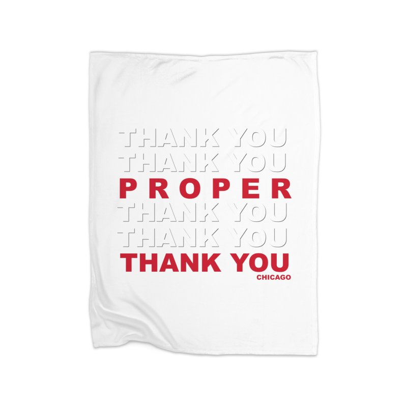 THANK YOU RED Home Fleece Blanket Blanket by Properchicago's Shop