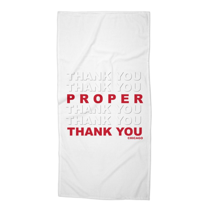 THANK YOU RED Accessories Beach Towel by Properchicago's Shop